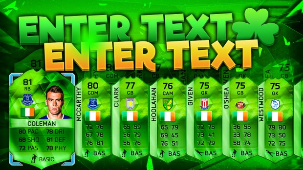 FIFA 16 St Patricks Day Pack Opening Template (NO PHOTOSHOP NEEDED)