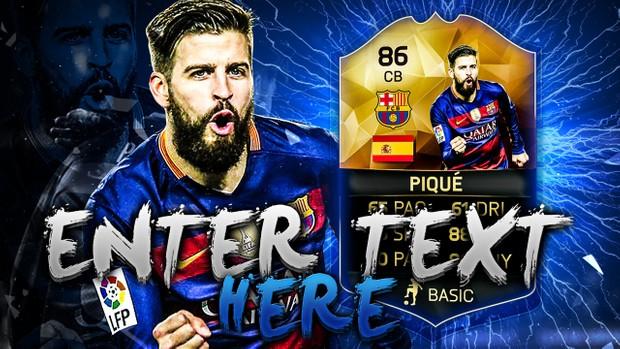 FIFA 16 Pique Thumbnail Template TOTW 25