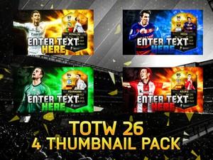 FIFA 16 TOTW 26 4 Thumbnail Template Pack