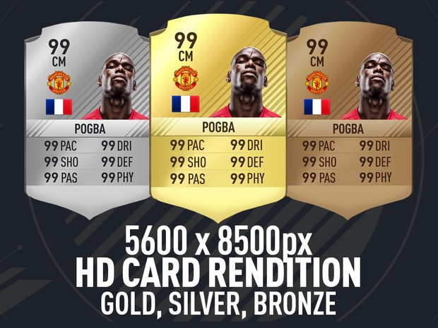 FIFA 17 ULTRA HD GOLD, SILVER, BRONZE CARD RENDITION *UPDATED 16/18/16*