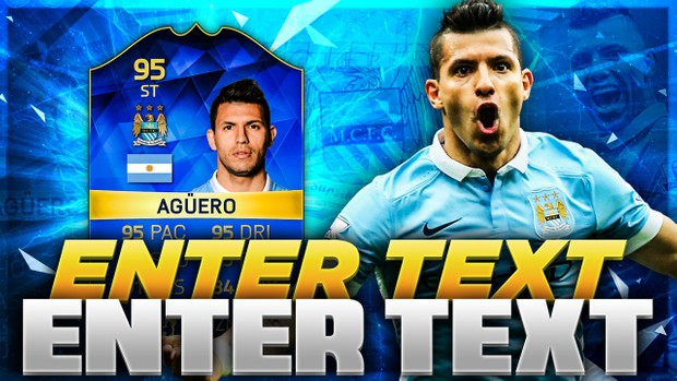 FIFA 16 TOTS AGUERO THUMBNAIL TEMPLATE