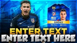 FIFA 16 TOTS GIMENEZ THUMBNAIL TEMPLATE