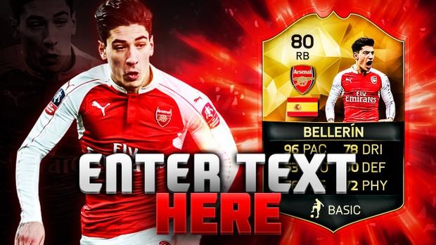 FIFA 16 80 Bellerin Thumbnail Template