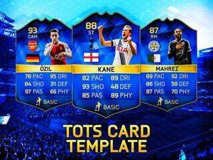 FIFA 16 HD TOTS CARD TEMPLATE