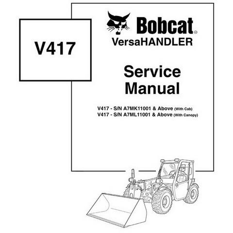 Bobcat V417 VersaHANDLER Workshop Repair Service Manual - 6904956