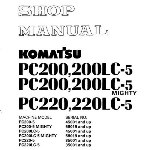 Komatsu PC200,LC-5 Mighty , PC220,LC-5 Hydraulic Excav