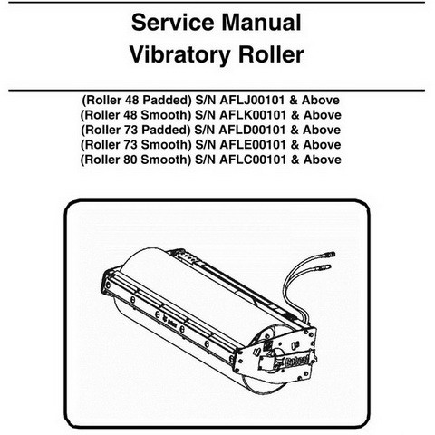 Bobcat 48-80 Vibratory Roller Repair Service Manual - 6987313