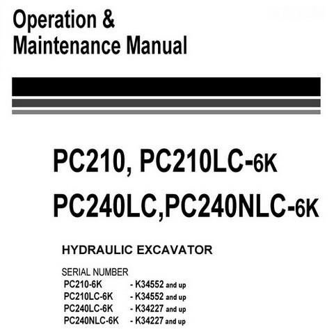 Komatsu PC210-6K, PC210LC-6K, PC240LC-6K, PC240NLC-6K