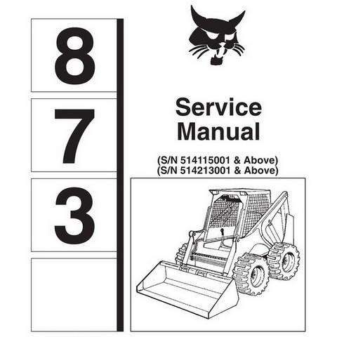 Bobcat 873 Skid-Steer Loader Service Manual - 6900382