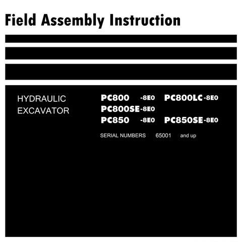 Komatsu PC800-8E0, PC800LC-8E0, PC800SE-8E0, PC850-8E0,PC850SE-8E0 Excavator FAI  (65001 and up)