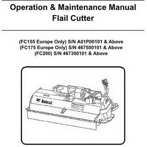 Bobcat Flail Cutter Operation and Maintenance Manual - 6903299enUS