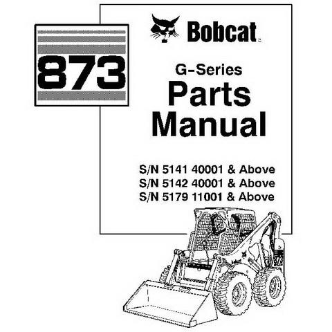 Bobcat 837 G-Series Skid-Steer Loader Parts Manual - 6900956