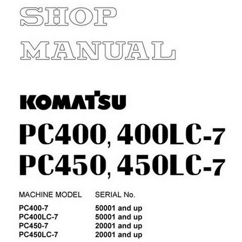Komatsu PC400-7, PC400LC-7, PC450-7, PC450LC-7 Hydraul