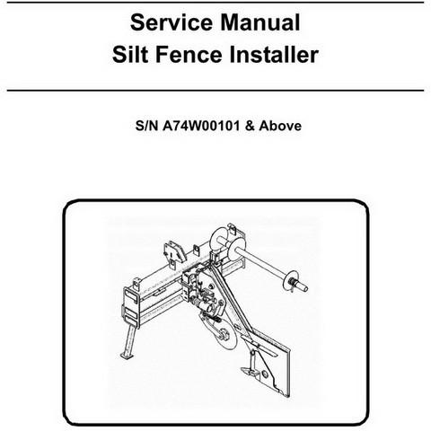 Bobcat Silt Fence Installer Repair Service Manual - 6904966