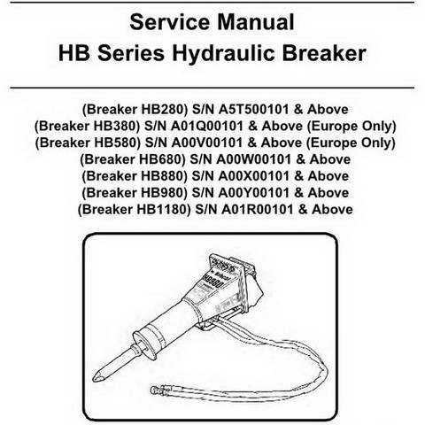 Bobcat HB Series Hydraulic Breaker Repair Service Manual - 6904105enUS