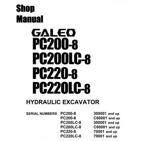 Komatsu PC200-8, PC200LC-8, PC220-8, PC220LC-8 Hydraul
