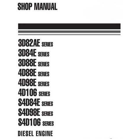 Komatsu TNV Series Diesel Engine Shop Manual - WEBMTNV000