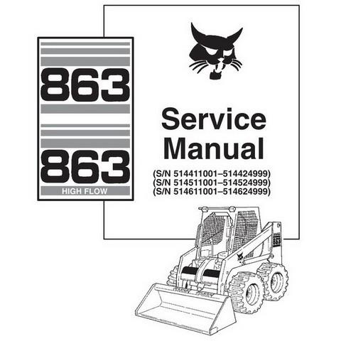 Bobcat 863, 863H Skid-Steer Loader Service Manual - 6724799
