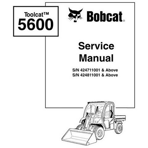 Bobcat Toolcat 5600 Utility Work Machine Workshop Repair Service Manual - 6902819