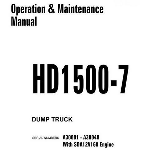 Komatsu HD1500-7 Dump Truck Operation & Maintenance Manual (A30001-A30048) - CEAM019202