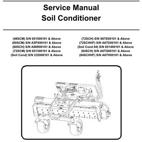 Bobcat Soil Conditioner Repair Service Manual - 6901113