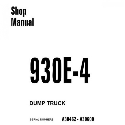Komatsu 930E-4 Dump Truck Shop Manual (A30462-A30600) - CEBM017904