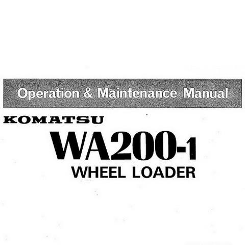 Komatsu WA200-1 Wheel Loader Operation & Maintenance Manual