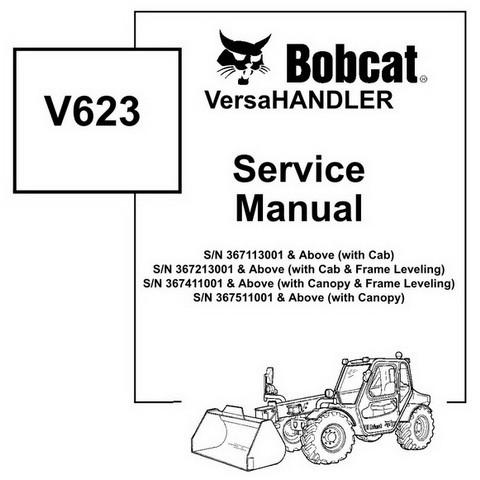 Bobcat V623 VersaHANDLER Workshop Repair Service Manual - 6902407
