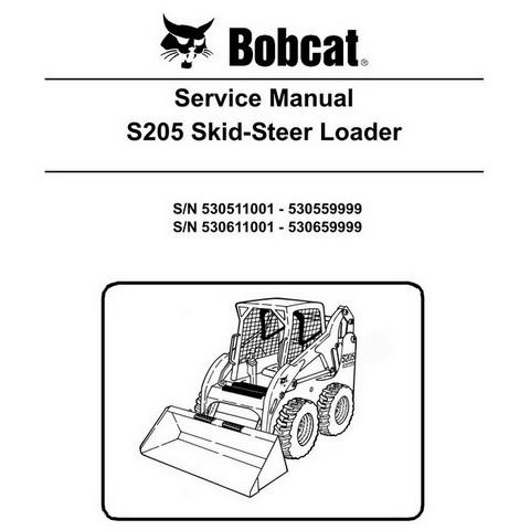Bobcat S205 Skid-Steer Loader Service Manual - 6904138