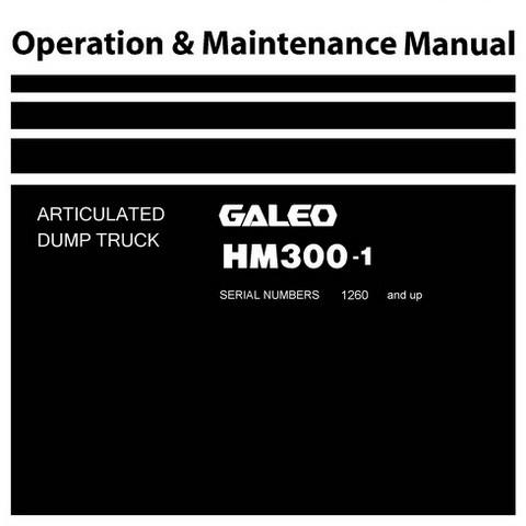 Komatsu HM300-1 Dump Truck Operation & Maintenance Manual (1260 and up) - TEN00044-03