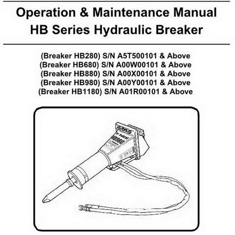 Bobcat HB Series Hydraulic Breaker Operation & Maintenance Manual - 6904104enUS