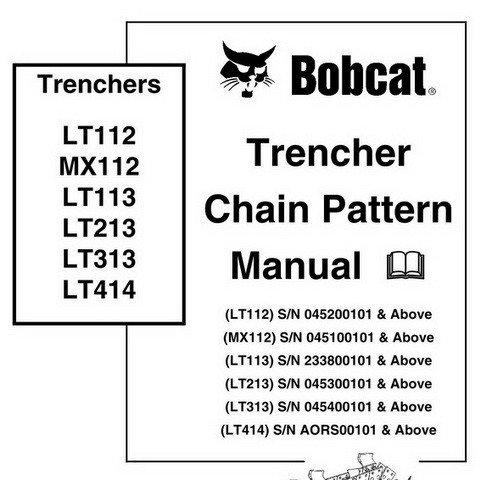 Bobcat Trencher Chain Pattern Repair Service Manual - 6903853