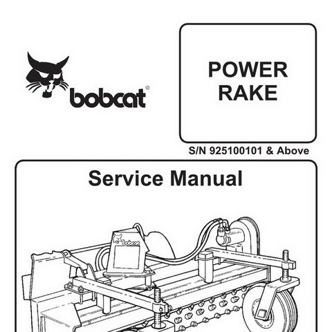 Bobcat Power Rake Repair Service Manual - 6900891