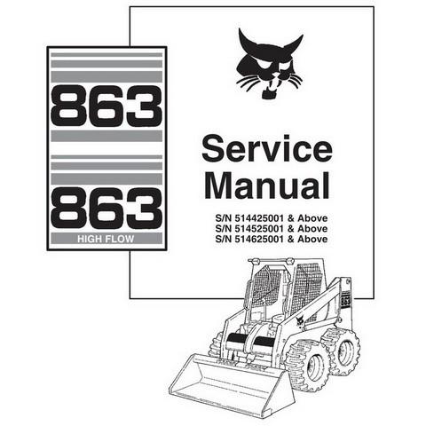 Bobcat 863, 863H Skid-Steer Loader Service Manual - 6900648
