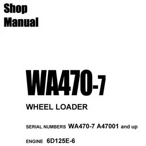 Komatsu SWA470-7 Wheel Loader Shop Manual (SN: A47001 and up)
