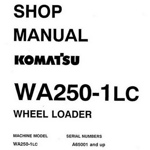 Komatsu WA250-1LC Wheel Loader Shop Manual