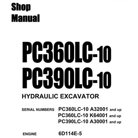 Komatsu PC360LC-10 & PC390LC-10 Hydraulic Excavator Sh