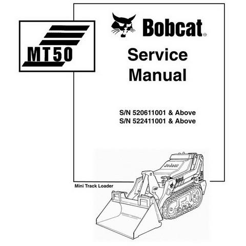 Bobcat MT50 Mini Track Loader Workshop Repair Service Manual - 6901510