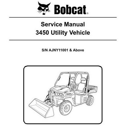 Bobcat 3450 Utility Vehicle Workshop Repair Service Manual - 6989610