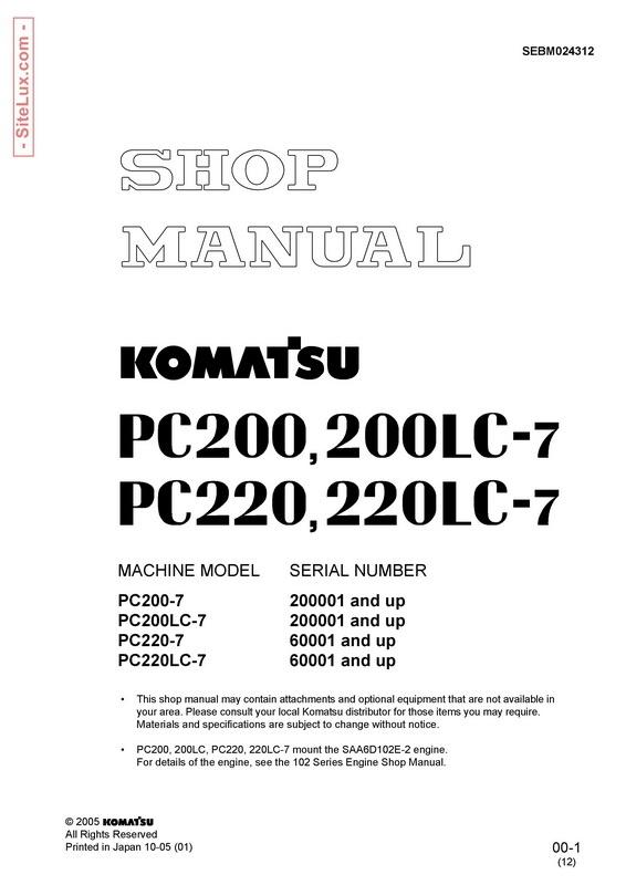 Komatsu Pc2007 Pc200lc7 Pc2207 Pc220lc7 Hydraul. Komatsu Pc2007 Pc200lc7 Pc2207 Pc220lc7. Wiring. Komatsu Pc220lc Wiring Diagram At Scoala.co