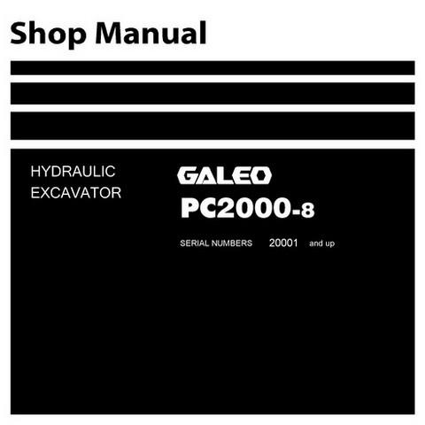 Komatsu PC2000-8 Galeo Excavator Mining Shovel Shop Manual (20001 and up) - SEN01607-06