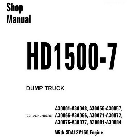 Komatsu HD1500-7 Dump Truck Shop Manual (A30001-A30084) - CEBM019905