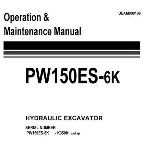 Komatsu PW150ES-6K Hydraulic Excavator Operation & Maintenance Manual (K35001 and up) - UEAM000106