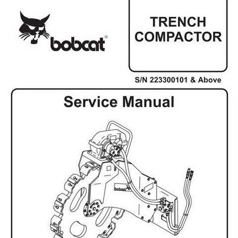 Bobcat Trench Compactor Repair Service Manual - 6900904