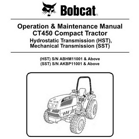 Bobcat CT450 Compact Tractor Operation and Maintenance Manual - 6987077