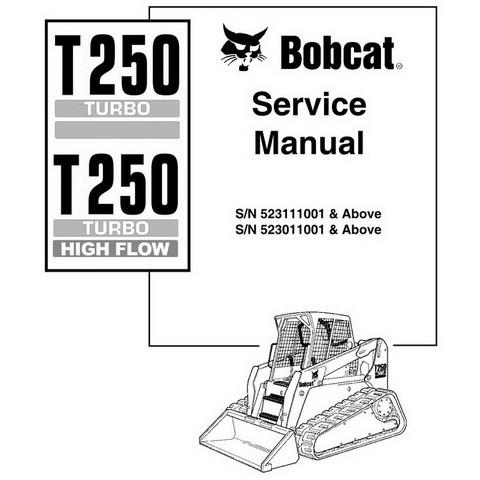 Bobcat T250 Compact Track Loader Service Manual - 6902451