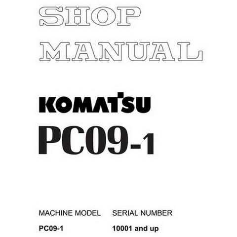Komatsu PC09-1 Mini Excavator Shop Manual (10001 and up) - SEBM026105