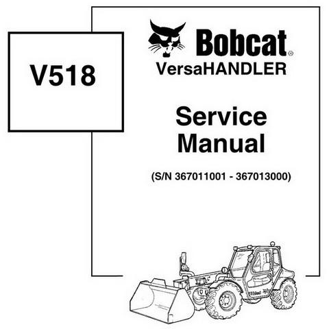 Bobcat V518 VersaHANDLER Workshop Repair Service Manual - 6901769
