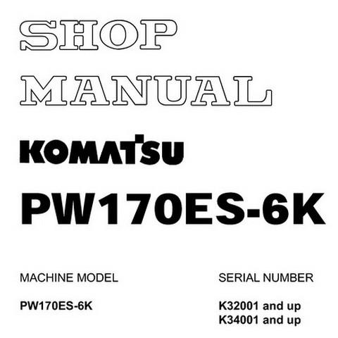 Komatsu PW170ES-6K Hydraulic Excavator Shop Manual - UEBM000801