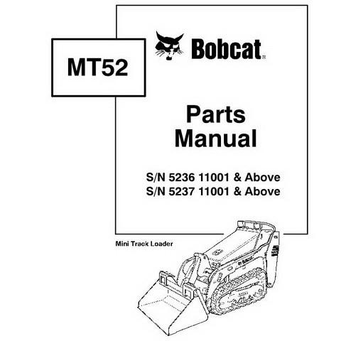 Bobcat MT52 Mini Track Loader Parts Manual - 6902706